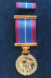 Serbian Army - Medal For 10 Years Of Ardent Military Service + Pin Ribbon Bar