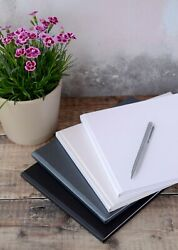 High Quality Plain Blank Diy Guest Book. 50 Pages / 100 Sides. 4 Colours.