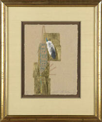 Embossment From An Engraved Plate By Taos Artist Ed Morgan, Gold + Sw Art Mag