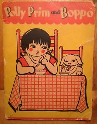 1930and039s Vintage Childrens Book Polly Prim And Boppo Mcneel Whitman Sweet Graphics