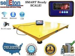 Floor Scale With Printer And Indicator 1000 Lbs X 0.2 Lb Stg Pallet Size 60 X 60andrdquo