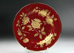 Wedgwood Porcelain Dish Plate Tonquin Ruby Tableware Ornament Floral Saucer Auth