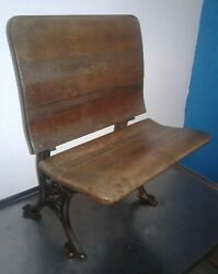 Rare Vintage Cast Iron And Wood Folding Student Desk Chair. Buffalo Hardware Co 5
