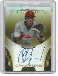 J.p. Crawford 2013 Bowman Sterling Gold Refractor Autograph 44/50 Auto Prospect