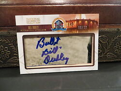 National Treasures Autograph Hof Fifty Years Steelers Bill Dudley 06/23 2013
