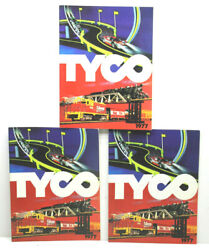 3pc Lot 1977 Tyco Toy Catalogs Electric Racing Train Sets Ho Scale Tycokits Cars
