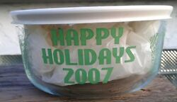 Pyrex 7201 Simply Store 4 Cup Round Christmas 2007 Snowman Charleroi Pa