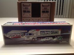 1997 Hess Truck And Race Cars Mib Fresh From A Factory Sealed Case