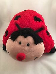 Pillow Pets Large Ladybug Comfy Plush Pillow Pet Cuddly Sleep As Seen On TV 18quot;