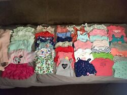 Girls 6 months Spring Summer play clothes 50pc. Lot Used **Amazing Assortment ** $74.99