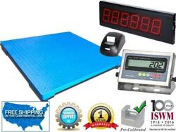 Floor Scale With Printer And Scoreboard 10000 Lbs X 1 Lb Pallet Size 48 X 60