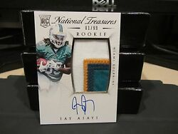 National Treasures Rookie Autograph Jersey Dolphins Jay Ajayi 01/99 2015