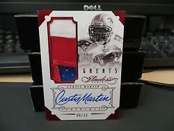 Panini Flawless Greats Ruby Autograph Jersey Patriots Curtis Martin 06/15 2014