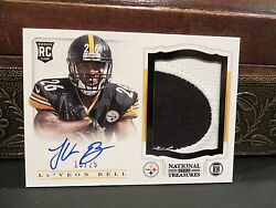 National Treasures Autograph Rookie Jersey Steelers Leand039veon Bell 13/25 2013