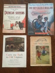 Rare Black Americana Sheet Music And Book Lot African American History