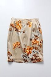 Dolce And Gabbana Silk Pencil Skirt Floral Wiggle Skirt Size 8