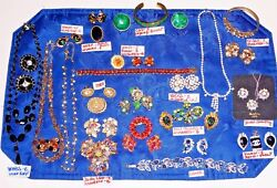 Vtg Costume Jewelry Lot Brooches, Bracelets, Pendant, Necklaces, Earrings, Sets