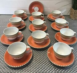 11 Villeroy & Boch Group Gallo Design Switch 2 Flat Coffee Cups and Saucer Sets