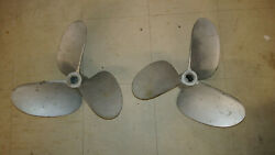 Matched Pair Stainless Steel Propellers 9362 19 Spline 18x23 Pitch Used Painted