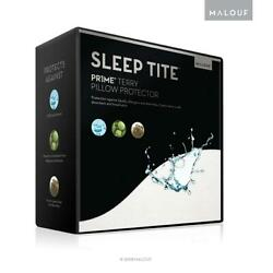 MALOUF SLEEP TITE Hypoallergenic 100% Waterproof Pillow Protector- 15-Year...