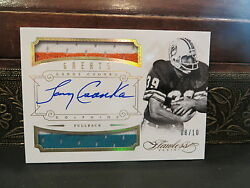 Panini Flawless Gold Autograph Jersey Greats Dolphins Larry Csonka 08/10 2014