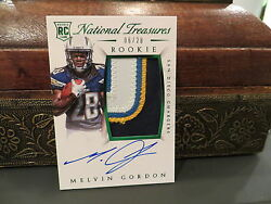 National Treasures Rookie Autograph Jersey Chargers Melvin Gordon 06/28 2015