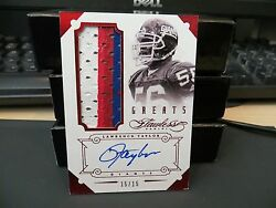 Panini Flawless Ruby Autograph Jersey Greats Giants Lawrence Taylor 15/15 2014