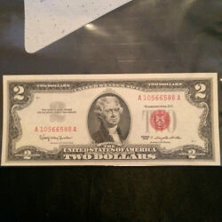 Two Dollar Bill. Red Seal 1963 Mint Condition A3.