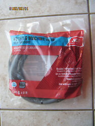 Ace High Pressure Washing Machine Hose 3/8 X 8and039 Braided Reinforced Hot Or Cold