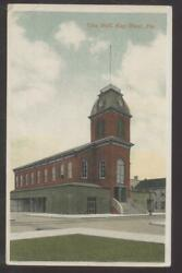 Postcard KEY WEST FL  Early 1900's City Hall & Fire Department Station 1910's