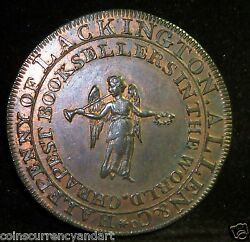 Conder Halfpenny Token 1795 Lackington And Allenandrsquos London One Of The Best Dh 354