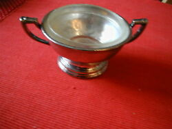 Vintage Edgewater Beach Hotel Silver Sugar Bowl With Insert Silver Soudered