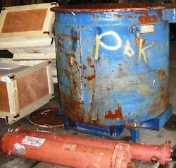 Open Top Jacketed Heavy Walled Steel Tank. Approx. Cap. 440 Gals. Item 8580