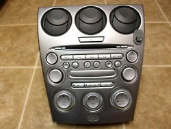 2003 2004 2005 03 04 05 MAZDA 6 CLIMATE HEATER CONTROL STEREO BEZEL 6-CD PLAYER