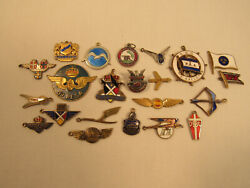 Collection Of Vintage Charms Airlines Aviation Braniff Klm Iberia Etc. Nautical