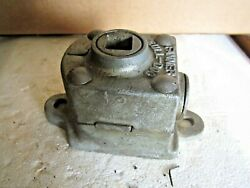 Antique Vintage Fanner Mfg Cleveland Ohio, Bull-dog Awning Worm Gearbox