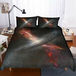 Inserted Whirlpool 3d Quilt Duvet Doona Cover Set Single Double Queen King Print
