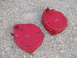 Farmall C Tractor Ih Ihc Pair Band Brakes Brake And Cover Mounts