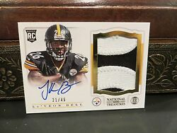 National Treasures Autograph Rookie Jersey Steelers Leand039veon Bell 21/49 2013