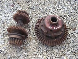 Farmall Super H Tractor Ih Transmission Drive Gears + Ring Pinion Drive Assembly