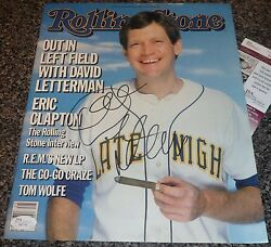 David Letterman Signed Rolling Stone Magazine The Late Show Jsa Auth Autograph