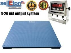 Floor Scale Op-916 Ntep 4-20 Ma Analog Output System 60andrdquo X 60andrdquo 5000 Lbs X 1 Lb
