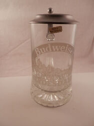 Vintage Budweiser Clydesdales Stein Pewter And Glass Germany F I Y E Italy