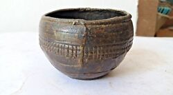 Old Vintage Rare Antique Indian Brass Small Carved Bowls Collectible