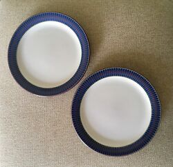 2 Denby Storm Bread Plates, Plum, Exc, Nr Mint Cond, Satisfaction Guaranteed