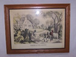 Original Currier And Ives Summer In The Country 13 1/2 X 10 1/2 Framed Print