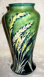 Moorcroft Pottery - Waving Corn Classic Form Vase From The 1930's 9 Green Sig