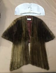 High-quality Mink Shawl With Sleeves Elbow-length Sleeves Regular Small