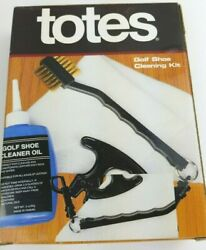 TOTES Golf Shoe Cleaning Kit 6 pc NEW in box $7.99