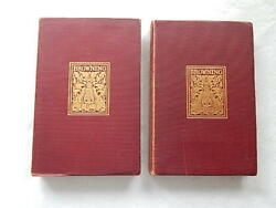Vintage 2 Robert Browning Books-thomas Crowell And Co Publisher-1898